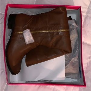 Brown WIDE CALF riding boots from shoedazzle